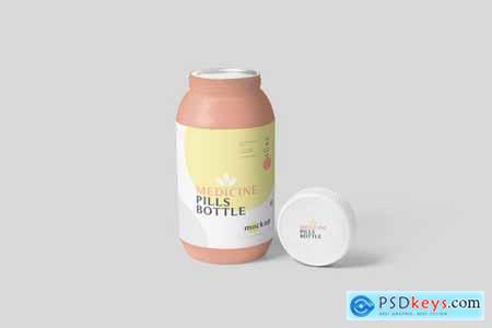 Plastic Medicine Pills Bottle Mockups