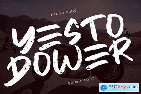 Yesto Dower Brush Font