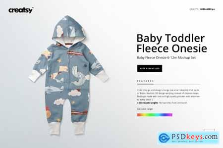 Baby Toddler Fleece Onesie Mockups 4399391