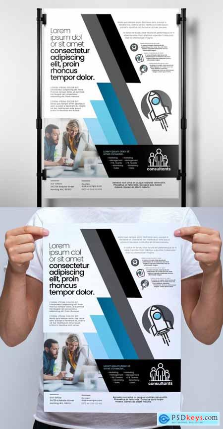 Banner Layout with Blue Diagonal Stripe Elements 329609953
