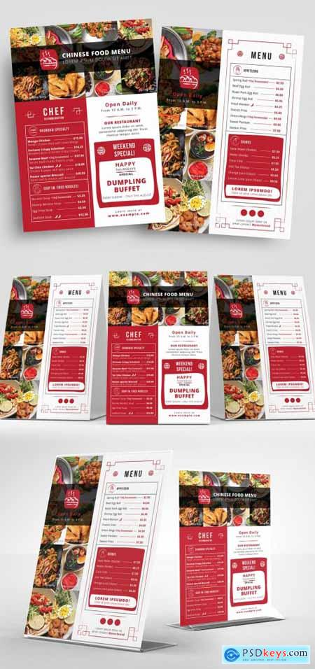Red and White Takeout Menu Layout 330835512