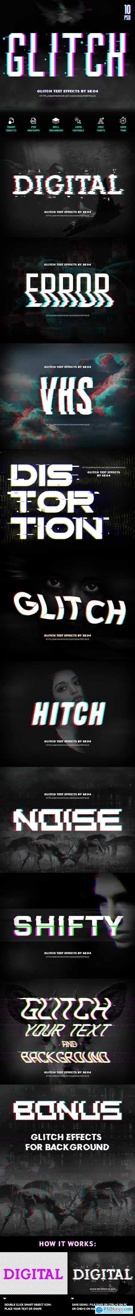 Glitch Text + Glitch Background FX 22420785
