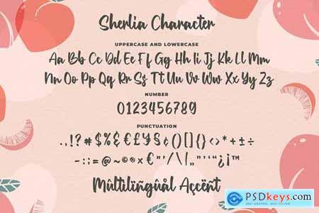 Sherlia - a Modern Calligraphy Font 4689546