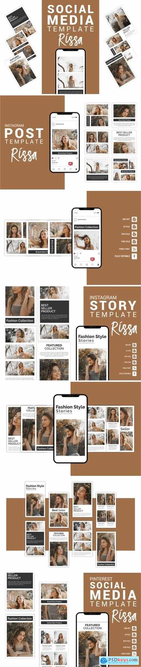 Rissa - Fashion Social Media Template3656098