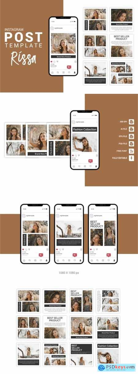 Rissa - Fashion Instagram Post Template 3656095