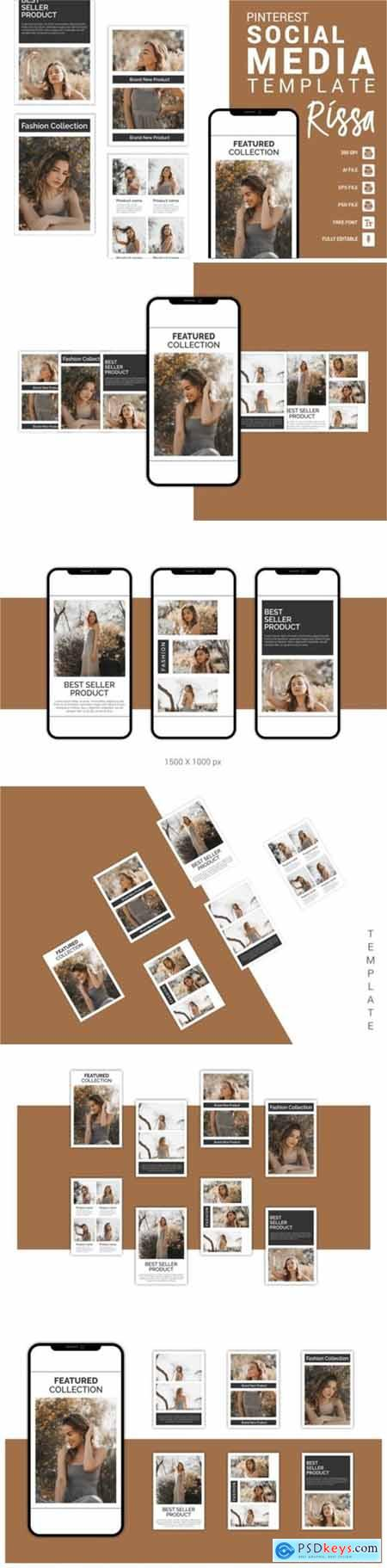 Rissa - Fashion Pinterest Templates 3656097