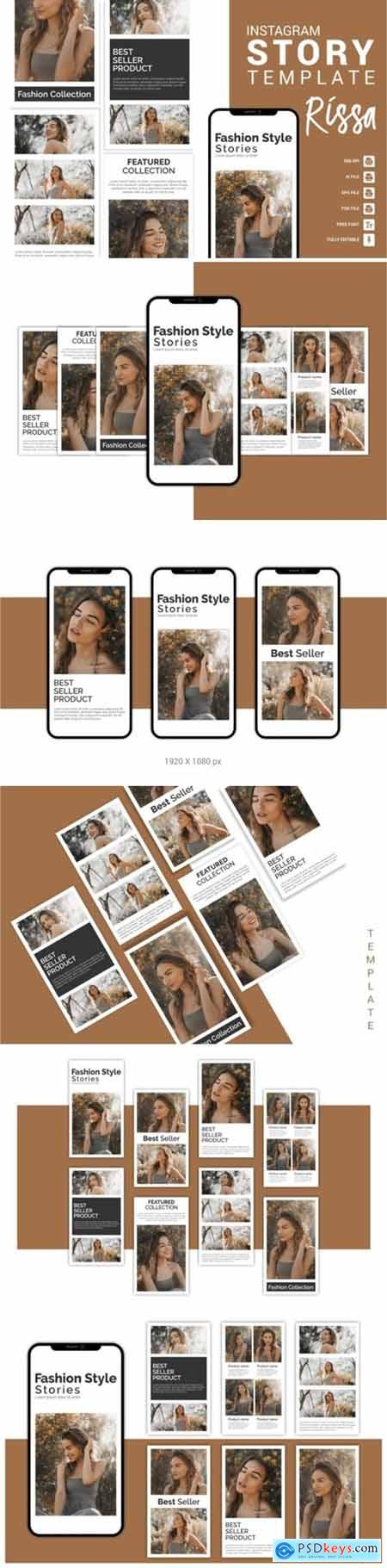 Rissa - Fashion Instagram Story Template 3656096