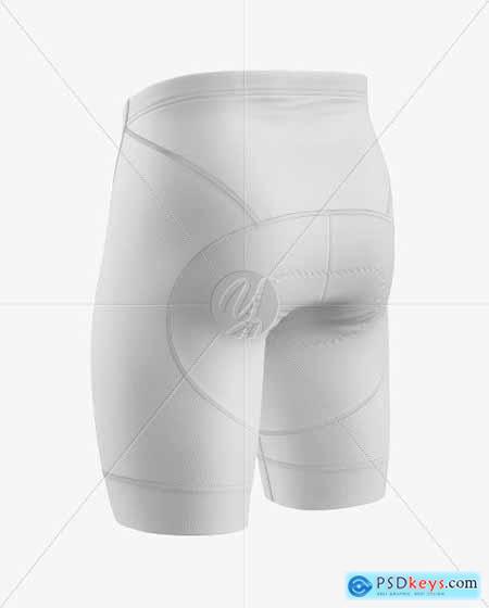 Cycling Shorts Mockup - Back Hald Side 51686