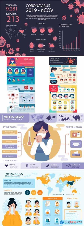 Stock Vector - Corona Virus Infographic