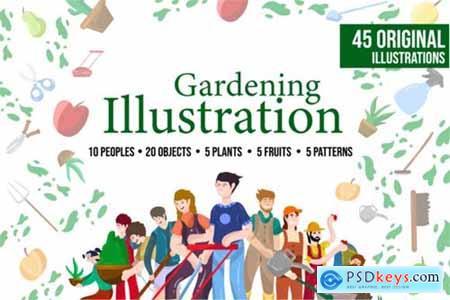 Gardening Illustration Bundle 3670829