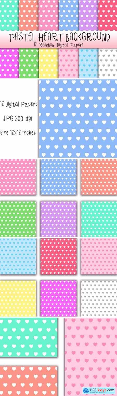 Pastel Heart Background 3676778