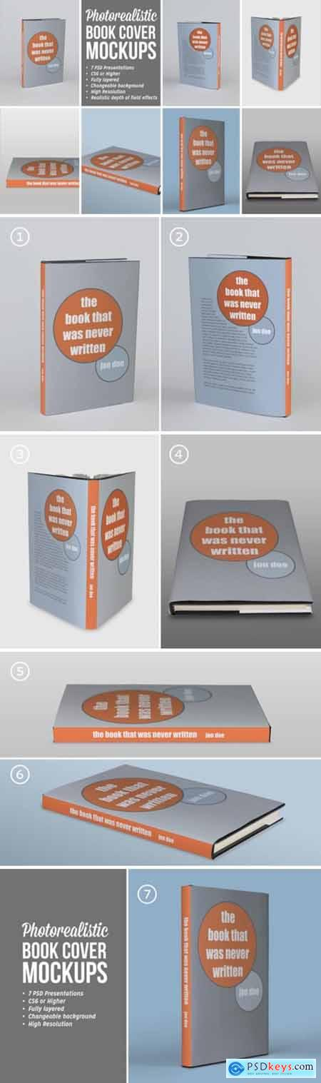 Photorealistic Book Covers Mockups 3677661