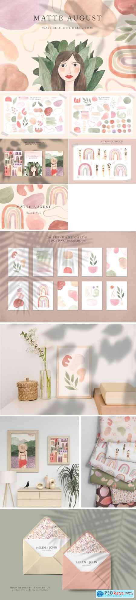 Modern Watercolor Graphic Collection 3672902