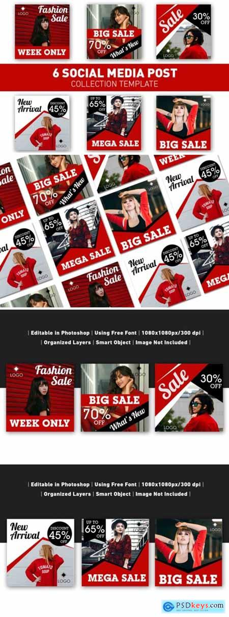 Social Media Post Red Sale Collection 3676458