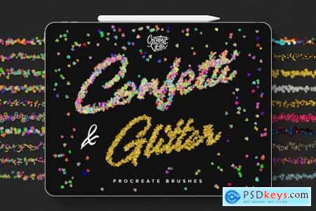 Confetti & Glitter Procreate Brushes 4523593