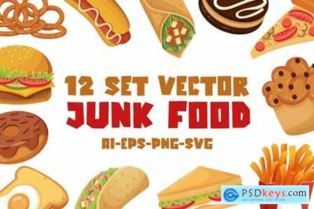 Junk food - Vector Set