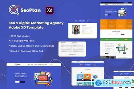 SeoPlan SEO & Digital Marketing Adobe XD Template