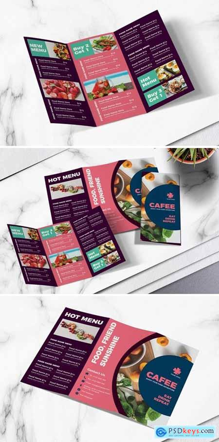 Food Menu Trifold Brochure Vol.06