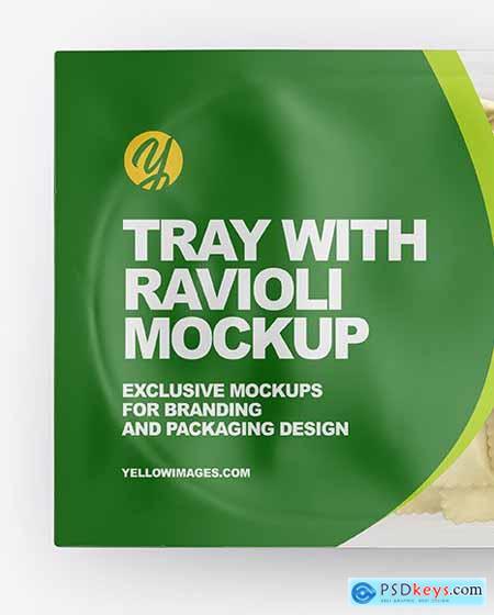 Tray With Ravioli Mockup 56379