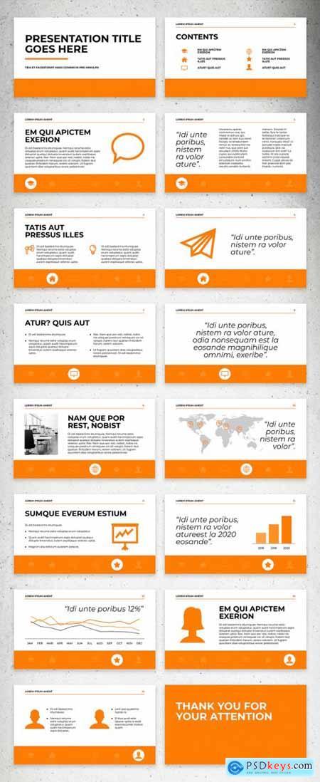 White and Orange Presentation Layout 331505021