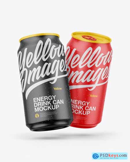 Two Matte Cans Mockup 56292