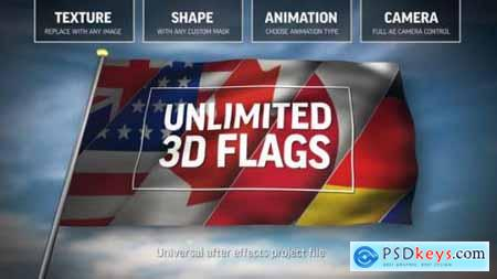 Unlimited 3D Flags 25557629