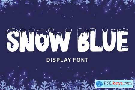 Snow Blue - Display Font
