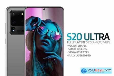 S20 Ultra Layered PSD Mockups