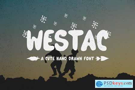 Westac - A Cute Hand Drawn Font