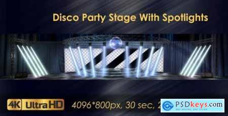 Disco Party Stage With Spotlights 20924365