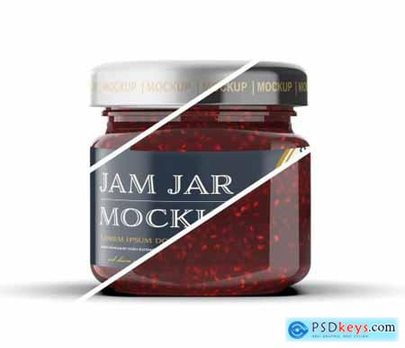Raspberry Jam Jar Mockup 331779342