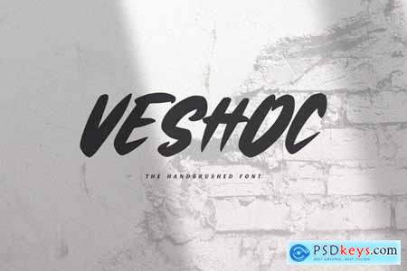 Veshoc - The Handbrushed Font
