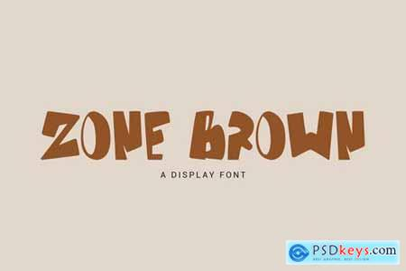 Zone Brown - Bold DIsplay Font GL