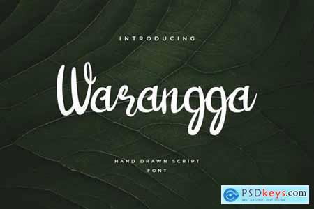 Warangga Hand Letter Script Font