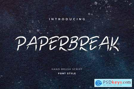 Paperbreak Brush Handwritten Font