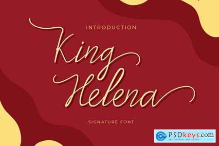 King Helena Script Handwritten Monoline Font