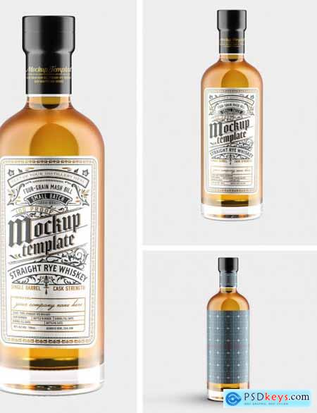 Whiskey Glass Bottle Mockup 331777850