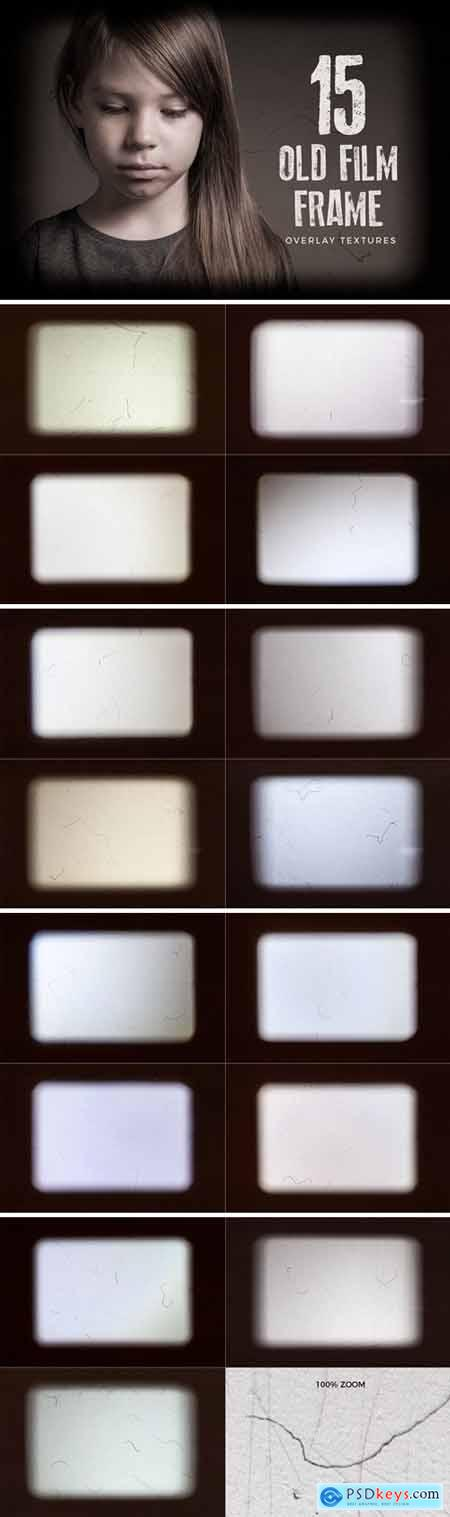 15 Old Film Frame Overlay Textures