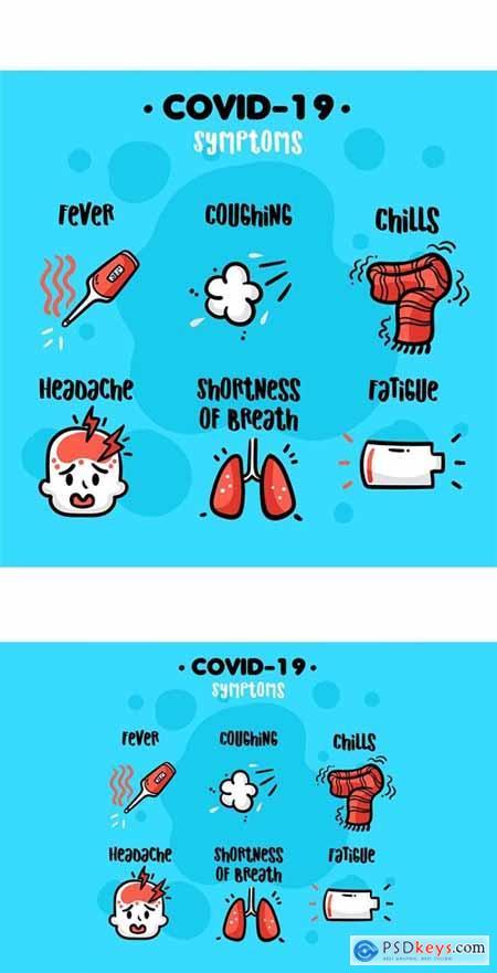 Stock Vector - COVID-19 Symptoms