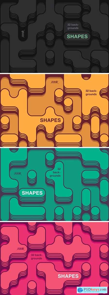 Shapes - Irregular Rounded Backgrounds