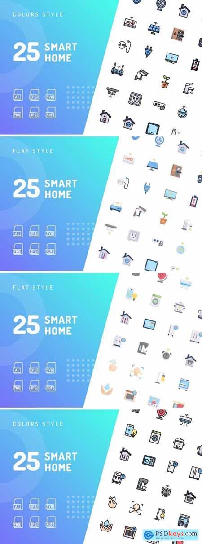 Stock Vector - Smart Home Icon