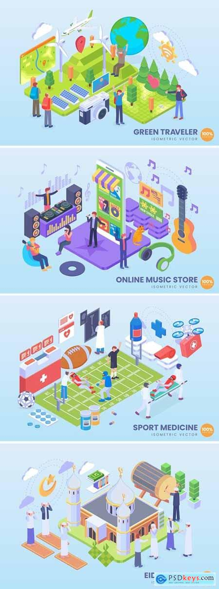 Stock Vector - Isometric Vector Concept