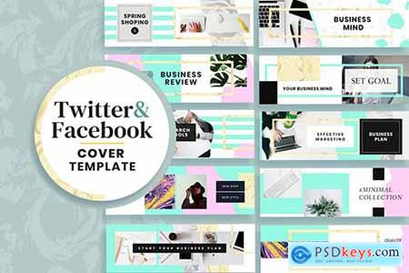 Facebook & Twitter Cover Templates X