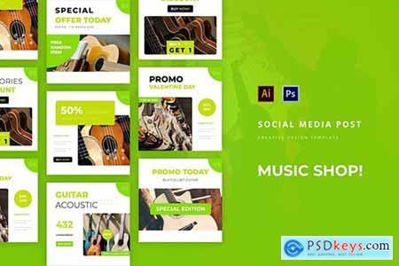 Music Shop Social Media Post