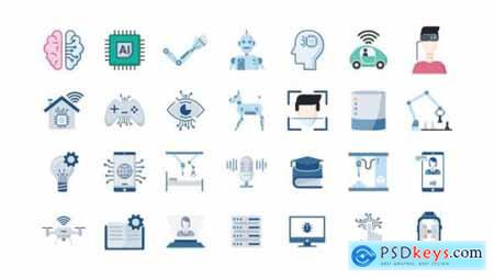 100 Artificial Intelligence Icons 26105034