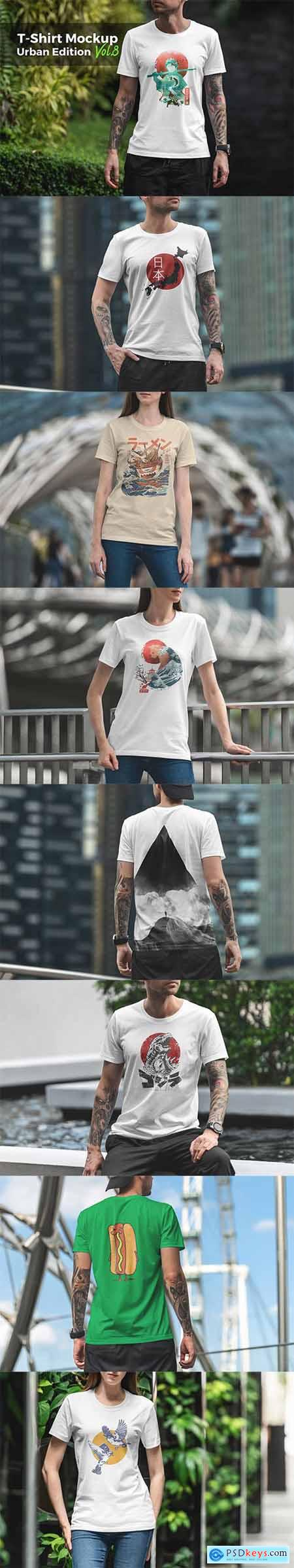 T-Shirt Mockup Urban Edition Vol8