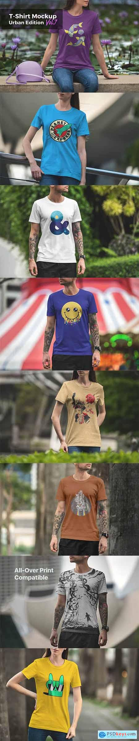 T-Shirt Mockup Urban Edition Vol7