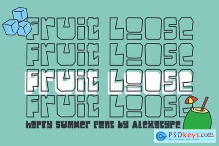 Fruitloose - Happy Summer Font