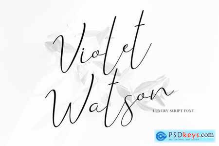 Violet Watson - Script Font 4713465