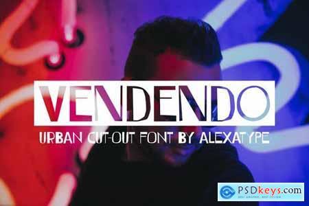 VENDENDO - Urban Cut Out Font